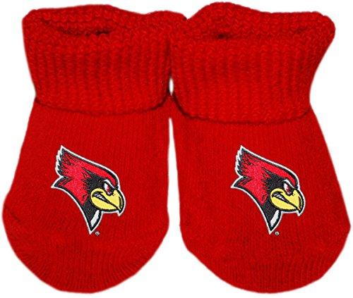 (Illinois State University Redbirds Newborn Baby Bootie Sock)