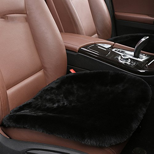 Authentic Sheepskin Car Interior Seat Cover, U&M Soft Luxurious Wool Seat Cushion Pad Winter Mat Universal Fit for Comfort in Auto, Plane, Office, or Home(19.3 Inch X 19.3 (Fit Sheepskin Pad)
