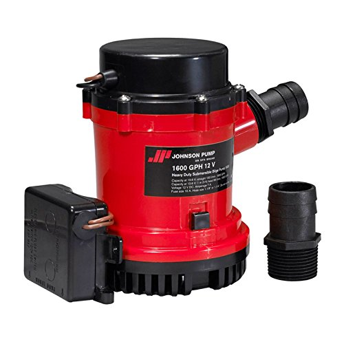 Johnson Pumps 01674-001 1600 GPH Heavy Duty Automatic Bilge Pump with Ultima Switch, 12V