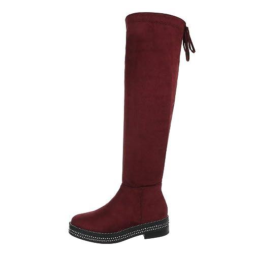 Zapatos para Mujer Botas Tacón Ancho Mosqueteras Ital-Design: Amazon.es: Zapatos y complementos
