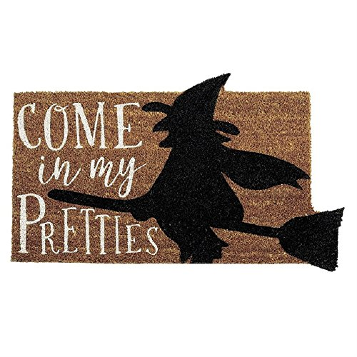 Mud Pie Come in My Pretties Witch Halloween Doormat -