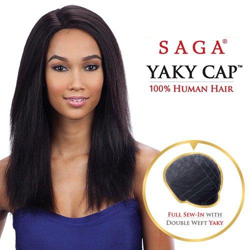 Saga Remy Human Hair Wig Yaky Cap 20