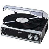 Jensen JTA-232 3 Speed Stereo Turntable with Built in Speakers (Newest Model)