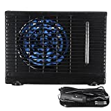 eronde Mini Evaporative Air Conditioner, Universal DC12V 35W Car air Conditioner, Portable Cooling Conditioner Water Evaporative Air Fan Black