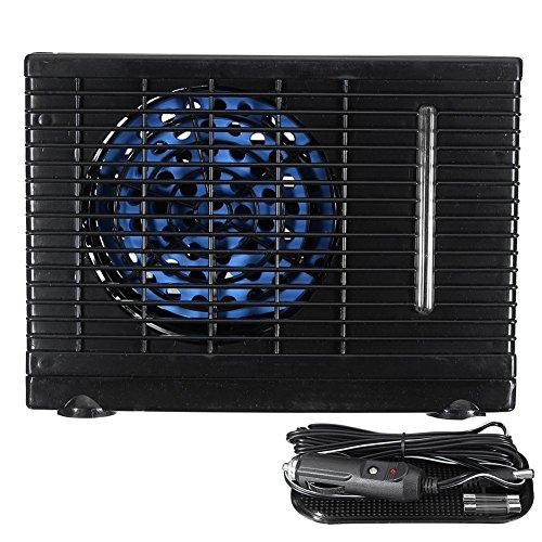 eronde Mini Evaporative Air Conditioner, Universal DC12V 35W Car air Conditioner, Portable Cooling Conditioner Water Evaporative Air Fan Black by eronde