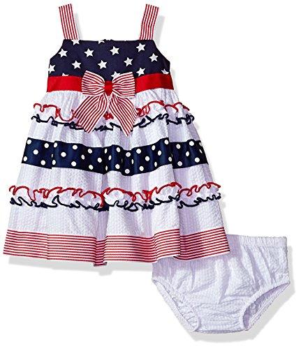 Bonnie Baby Baby Girls Americana Dress, Stars/Stripes, 24 Months