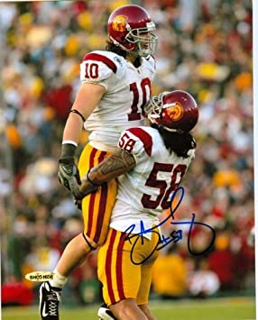factory authentic fe1db d032b Upper Deck Authentic Rey Maualuga Autograph 8x10 USC Trojans ...