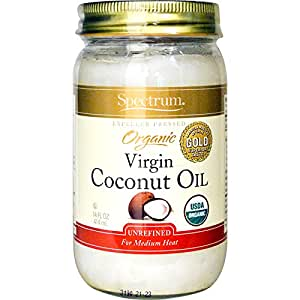 Spectrum Organic Coconut Oil, Unrefined, 14 oz