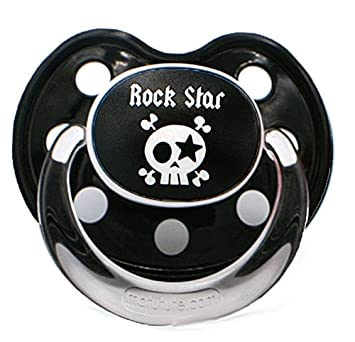 Lote de 3 chupetes tetinas bebé Baby Rock Star boquilla Slim Line Talla:6 mois et +