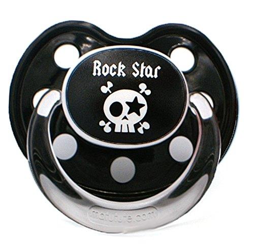 Lote de 3/chupetes tetinas beb/é Baby Rock Star boquilla Slim Line Talla:6 mois et