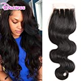 Brazilian Hair Body Wave Lace Closure 10 inch Three Part Body Wave Lace Top Closure With Baby Hair Virgin Human Hair Closure 4×4 inch