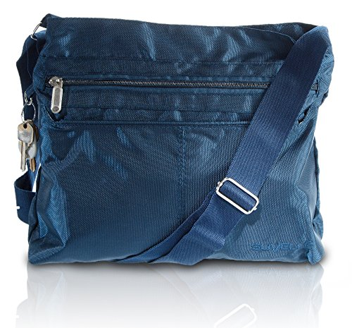 Suvelle Lightweight Classic Travel Everyday Crossbody Bag Multi Pocket Shoulder Handbag 1905