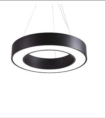 Simple Lumière Rond Led Lustre Bureau Métal Creux Cercle Suspension n0wOPk8X