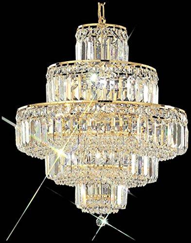Classic Lighting 1601 G SC Ambassador, Crystal, Chandelier, 24k Gold Plate