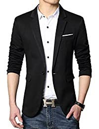 Men's Slim Fit Casual One Button Blazer Jacket