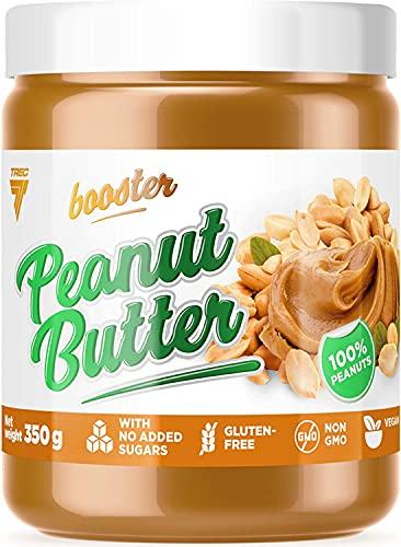 Trec Nutrition Booster Peanut Butter Pakket van 1 x 350 g – Pindakaas – Veganistisch – Geroosterde Pinda's – Geen…
