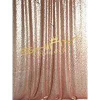 Blush SEQUIN CURTAIN-Backdrop-4FTx7FT, 50x84-Inches Sequin Photography Backdrop,Ready to SHIP. (4ftx7ft, Blush)