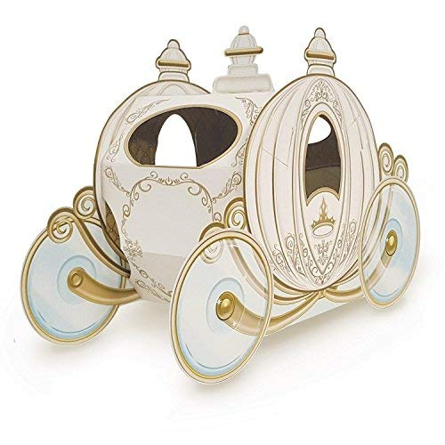 (Club Pack of 12 Decorative Gold 3-D Cinderella Pumpkin Carriage Centerpieces 11
