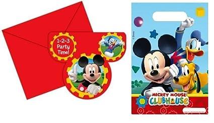 Prezer Tarjetas De Invitación Mickey Mouse Bolsas 12