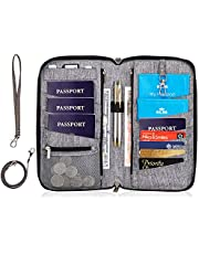 Valante Family Travel Document Organizer Capacious RFID Passport Holder Wallet