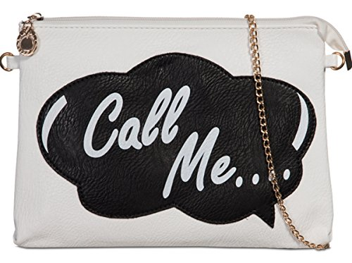 White Clutch Me PU White Clutch Logo PU Call fqf4Bwr