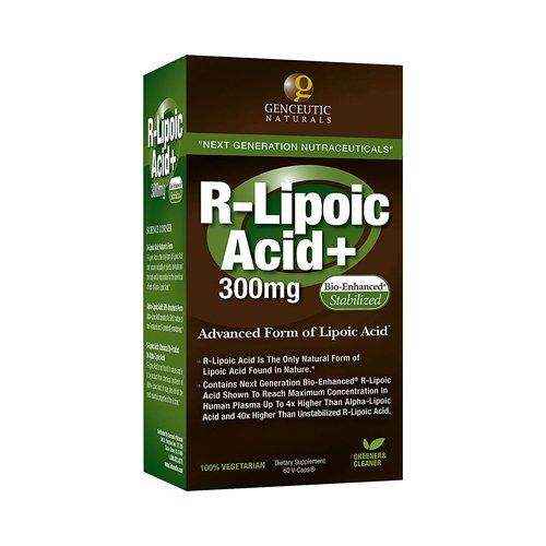 Bulk Saver Pack 8x60 CAP : Genceutic Naturals R-Lipoic Acid Plus - 300 mg by GENCEUTIC NATURALS