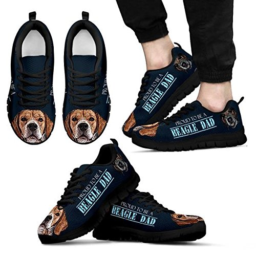 5 9 Amazing Black Beagle Dog Sneakers Print Men's Brand Casual 8ARqZBzBn