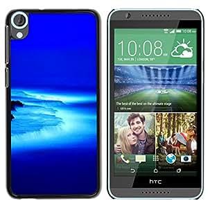 All Phone Most Case / Oferta Especial Duro Teléfono Inteligente PC Cáscara Funda Cubierta de proteccion Caso / Hard Case HTC Desire 820 // Blue low Waterfall