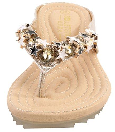 AgeeMi Shoes Mujer Mini Tacón Sandalias Punta Abierta Elegante Verano Zapatos Gold