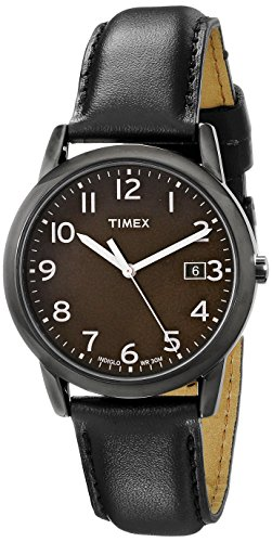 Dial Analog Gunmetal Watch - Timex Men's T2N947 South Street Black Leather Strap Watch