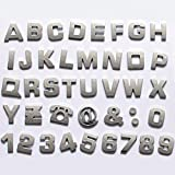car 3d emblem - Okeler 1 Set 40 Pcs Silver Car Logo Auto 3D Emblem Badge Sticker Chrome Letters Number with Free Pen