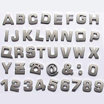 D Chrome Greek Letters Auto