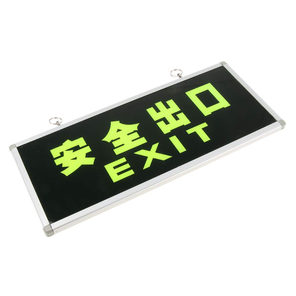Baosity Exit Sign Safty Emergency Sign Glow in the Dark Right Left 4 Types - Exit