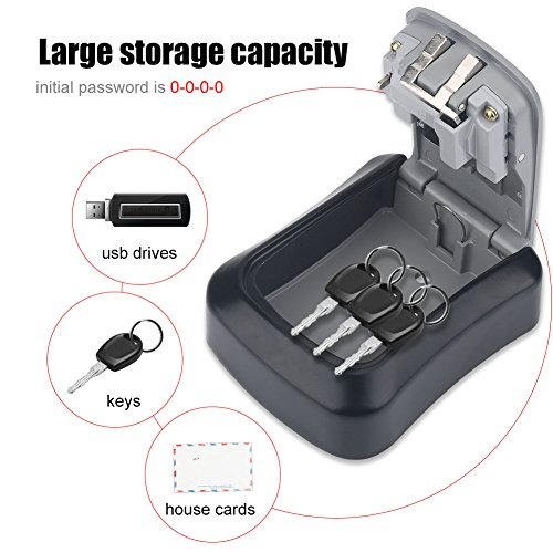 4 Digit Coded Lock Box for Cash, Safe Box for Home, Safe Storage by Eboxer (Image #2)