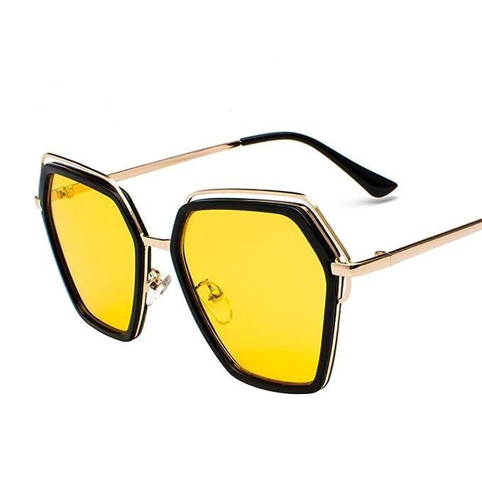 SenDi Gafas de sol-Gafas con montura grande de color rojo ...