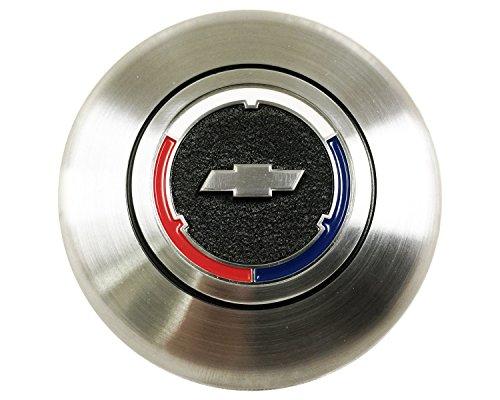 Volante Steering Wheels Tri Color Chevy Bow Tie, Wood Wheel Option Horn Cap Button for Camaro, El Camino, Chevelle, Impala, Nova