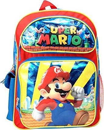 "Mochila – Nintendo – Super Mario Castillo 16 ""escuela ..."