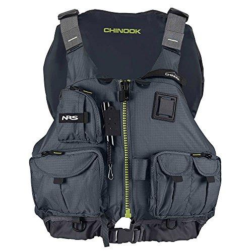 NRS Chinook Fishing Lifejacket-Charcoal-L/XL