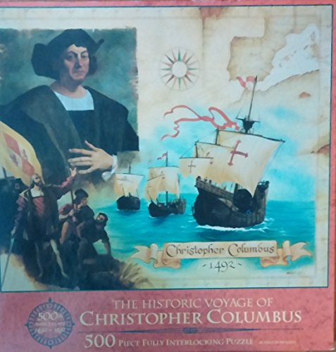MB The Historic Voyage of Christopher Columbus Puzzle, 500 Pieces (La Nina La Pinta La Santa Maria)