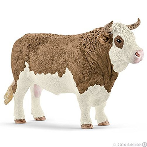 (Schleich North America Fleckvieh Bull Toy Figure)
