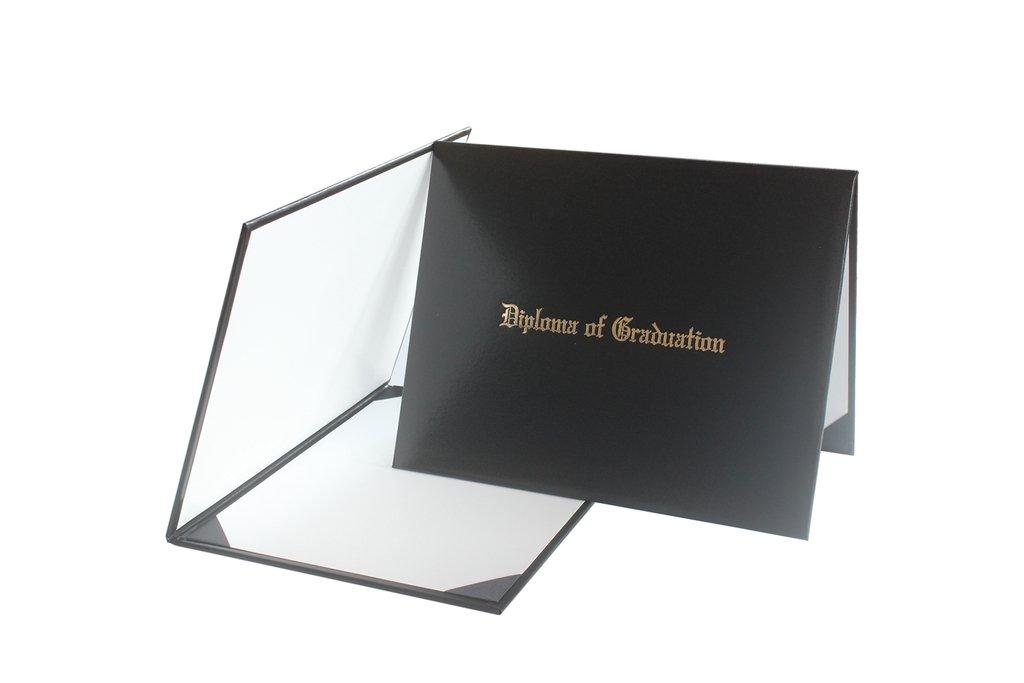 ''Diploma Of Graduation'' Diploma Cover 8 1/2'' x 11''(Black)