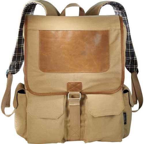 Cambridge Collection Laptop Computer Travel Backpack Brown - Field & Co. by Field & Co.