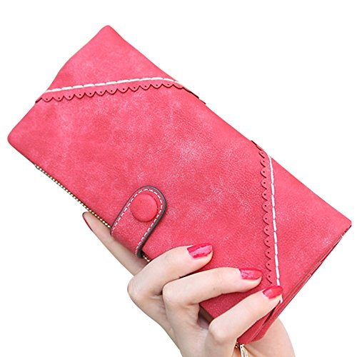 Purse Ladies Lady Leather Button Fashion Red Wocharm Handbag Clutch Women's Wallet Long zR7WIxn