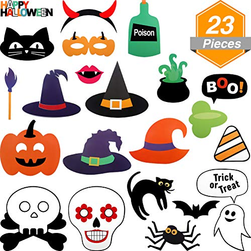 Jetec 23 Pieces Halloween Decor Attached to The