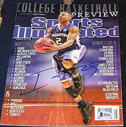 online retailer 7e6e9 4433e Isaiah Thomas Washington Huskies Autographed Signed ...