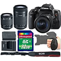 Canon T6i DSLR Camera Body with 18-55mm f/3.5-5.6 IS STM + 55-250mm f/4-5.6 IS STM Kit Bundle - International Version (No Warranty)