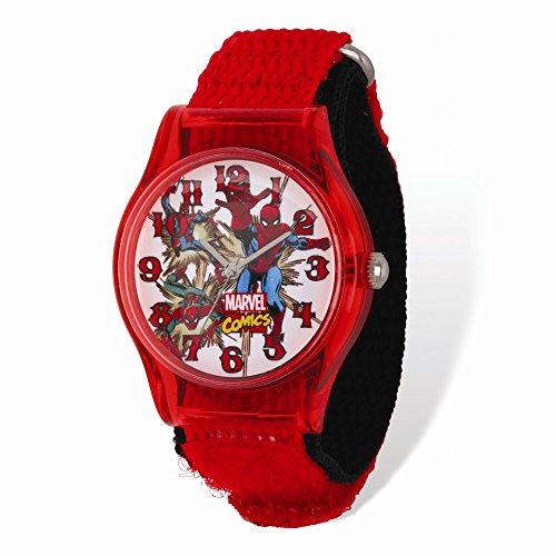 Marvel+Watches Products : Marvel Spiderman Acrylic Red Nylon Tween Watch