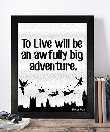 Wendy From Peter Pan Costume For Adults (Presents Gifts For Kids Girls Boys Teens Children Nursery Birthday Christmas Xmas Vintage Peter Pan Lovers Fans To Live Quotes Prints Posters Wall Art Bedroom Living Room Hallway Housewarming)