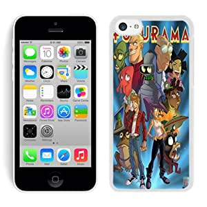 Popular And Unique Custom Designed Case For iPhone 5C With Futurama Painting White Phone Case