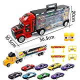 Koolee Transport Car Truck Portable Box Container Truck Toy Gift for boys